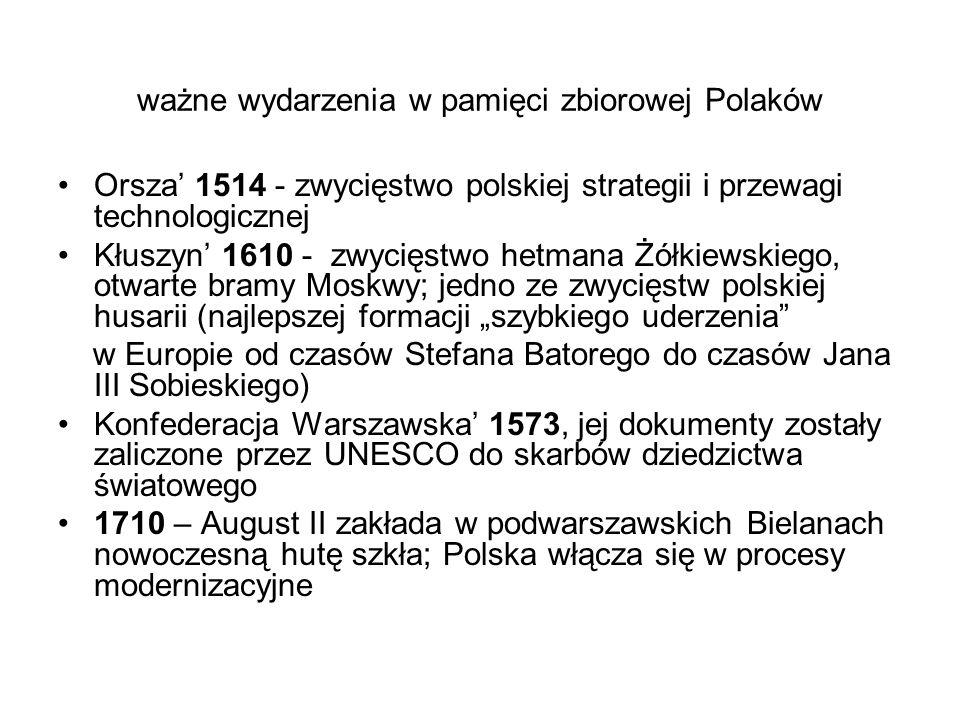 ważne wydarzenia w pamięci zbiorowej Polaków