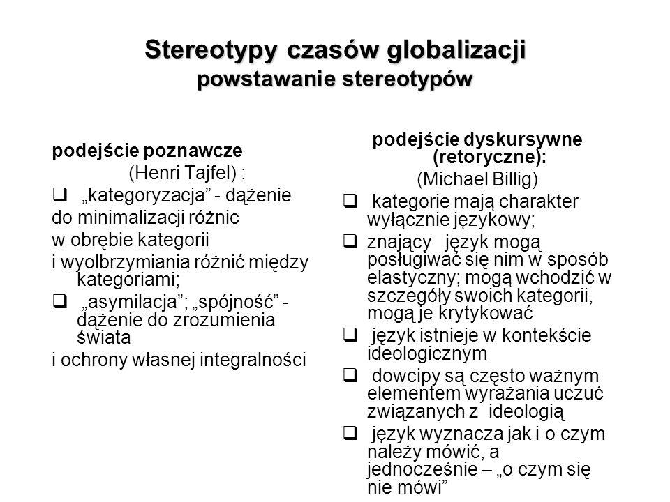 Stereotypy czasów globalizacji powstawanie stereotypów