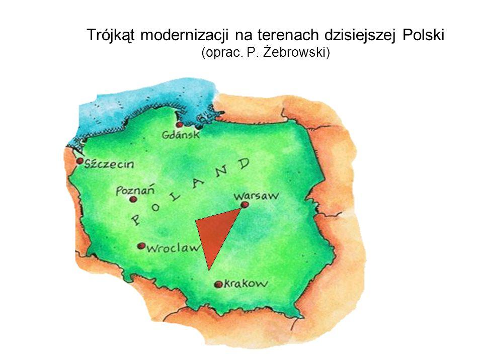 Trójkąt modernizacji na terenach dzisiejszej Polski (oprac. P