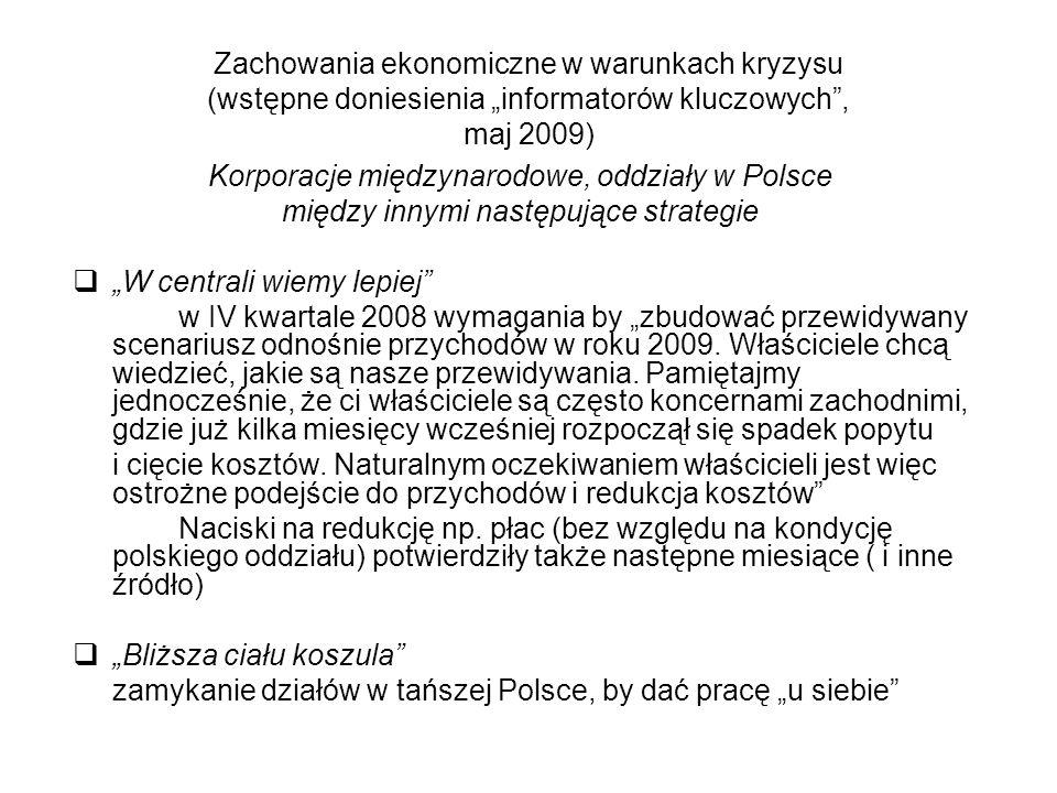 Korporacje międzynarodowe, oddziały w Polsce