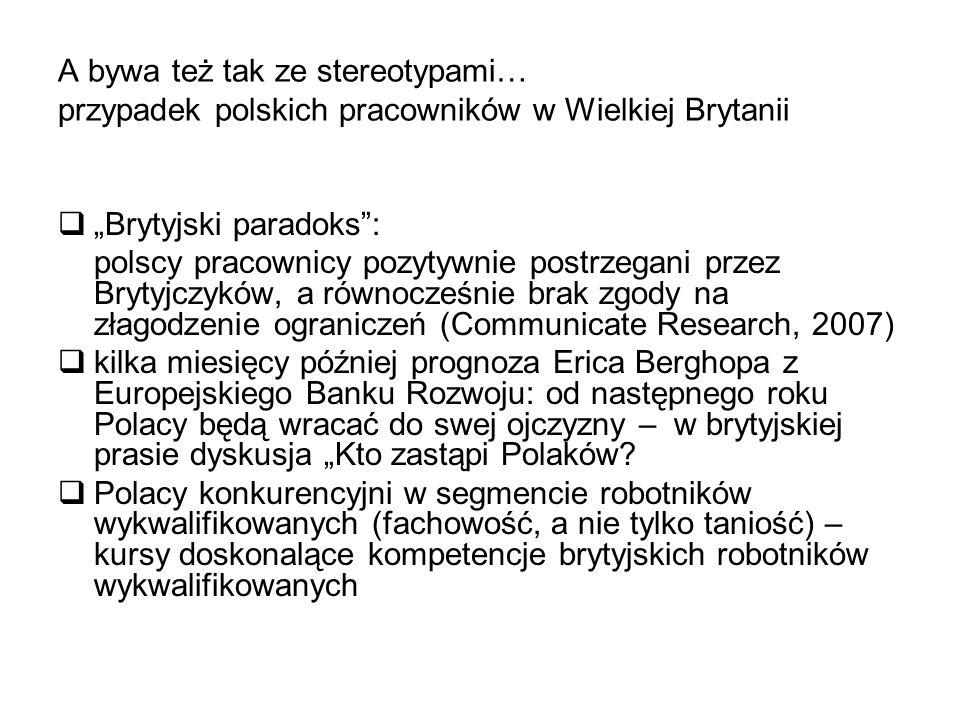 A bywa też tak ze stereotypami… przypadek polskich pracowników w Wielkiej Brytanii