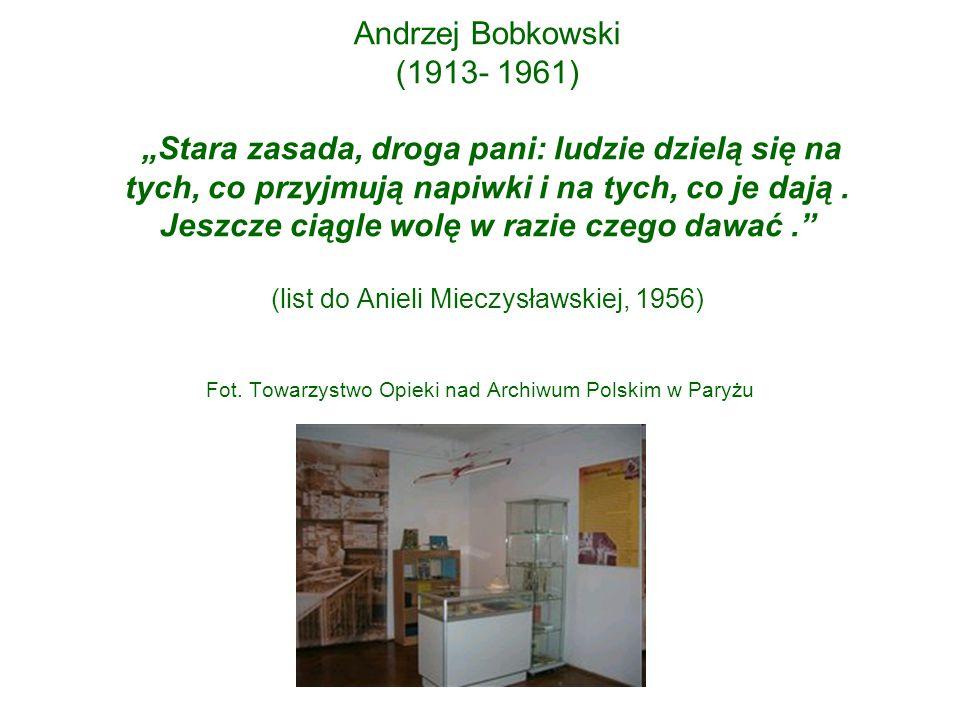 Fot. Towarzystwo Opieki nad Archiwum Polskim w Paryżu