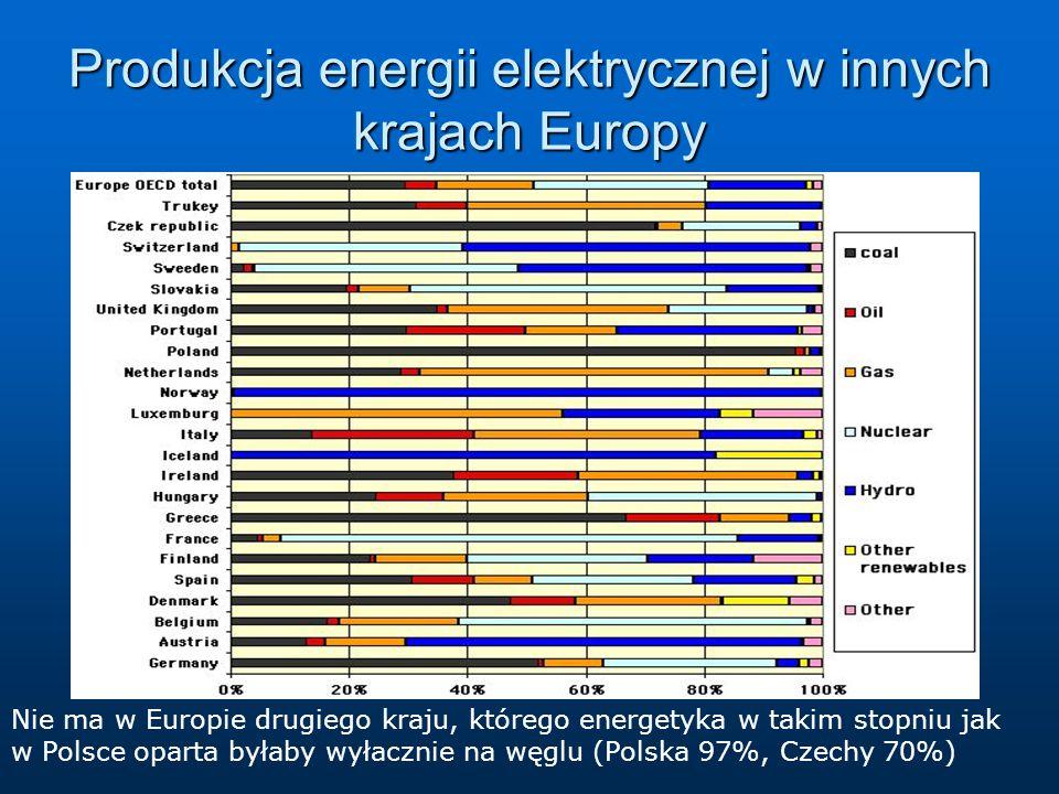Produkcja energii elektrycznej w innych krajach Europy