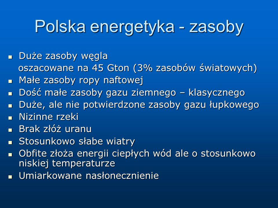 Polska energetyka - zasoby