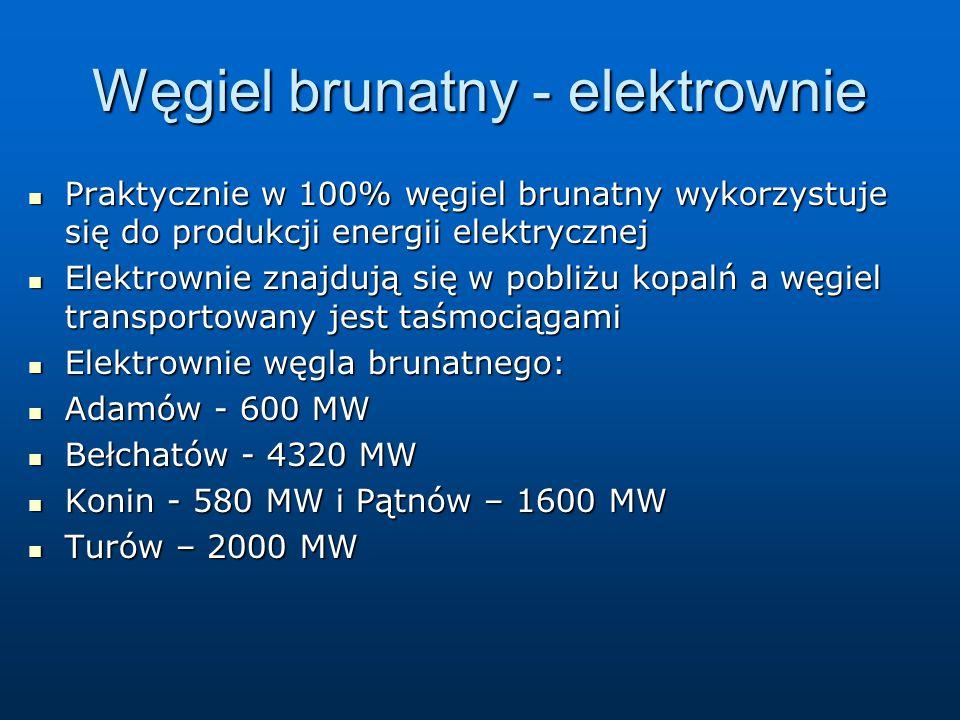 Węgiel brunatny - elektrownie