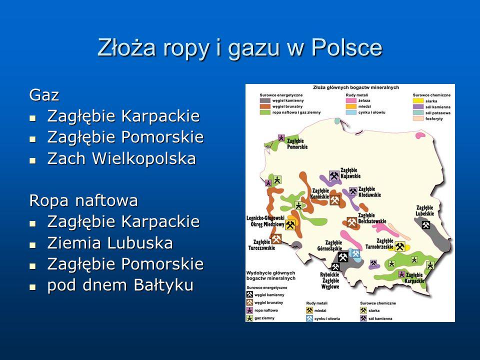 Złoża ropy i gazu w Polsce