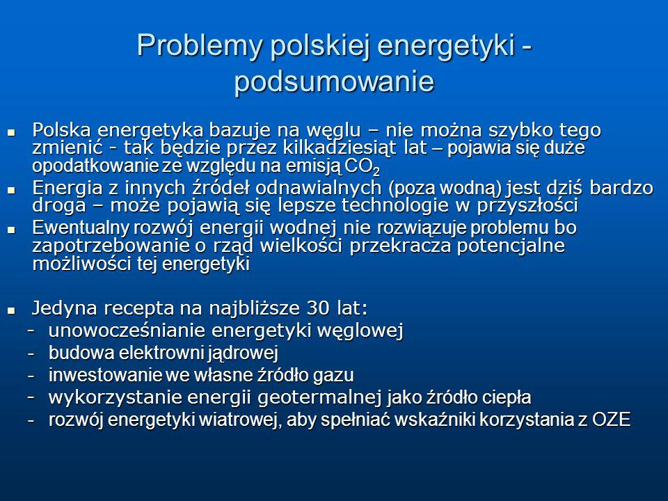 Problemy polskiej energetyki - podsumowanie