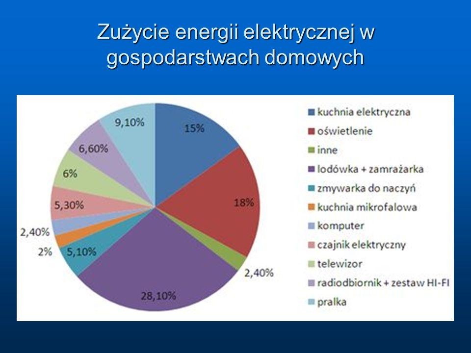 Zużycie energii elektrycznej w gospodarstwach domowych