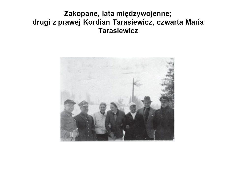 Zakopane, lata międzywojenne; drugi z prawej Kordian Tarasiewicz, czwarta Maria Tarasiewicz