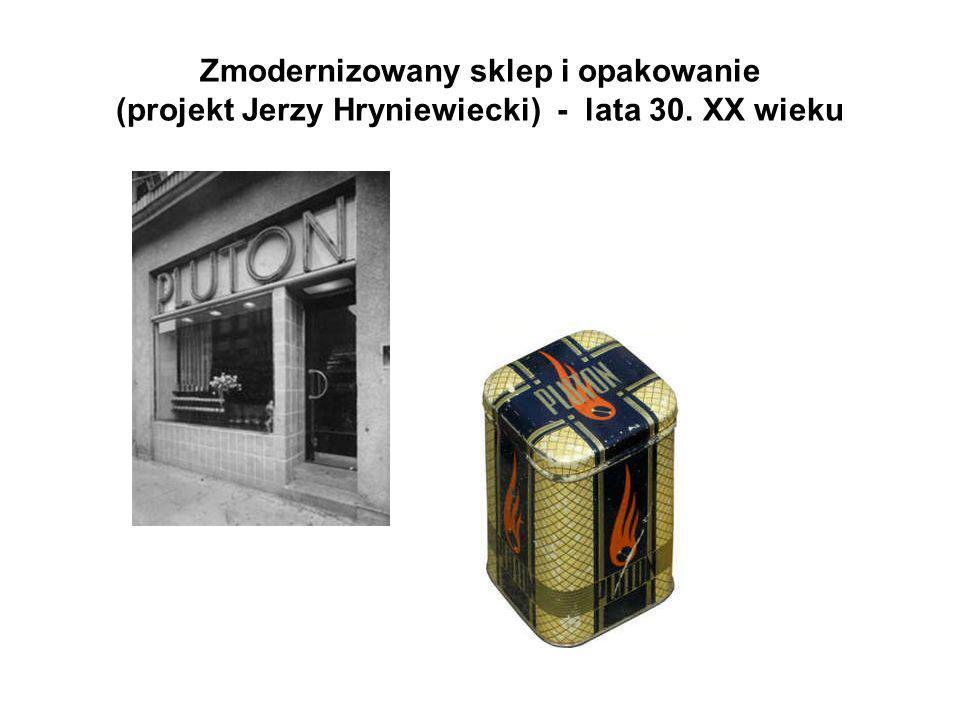 Zmodernizowany sklep i opakowanie (projekt Jerzy Hryniewiecki) - lata 30. XX wieku