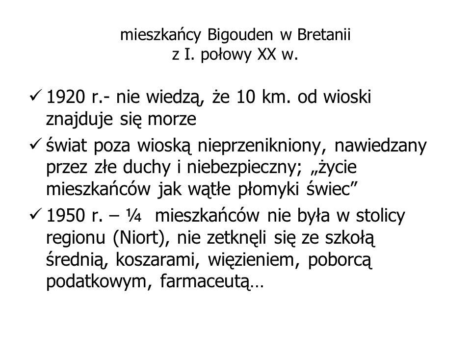 mieszkańcy Bigouden w Bretanii z I. połowy XX w.