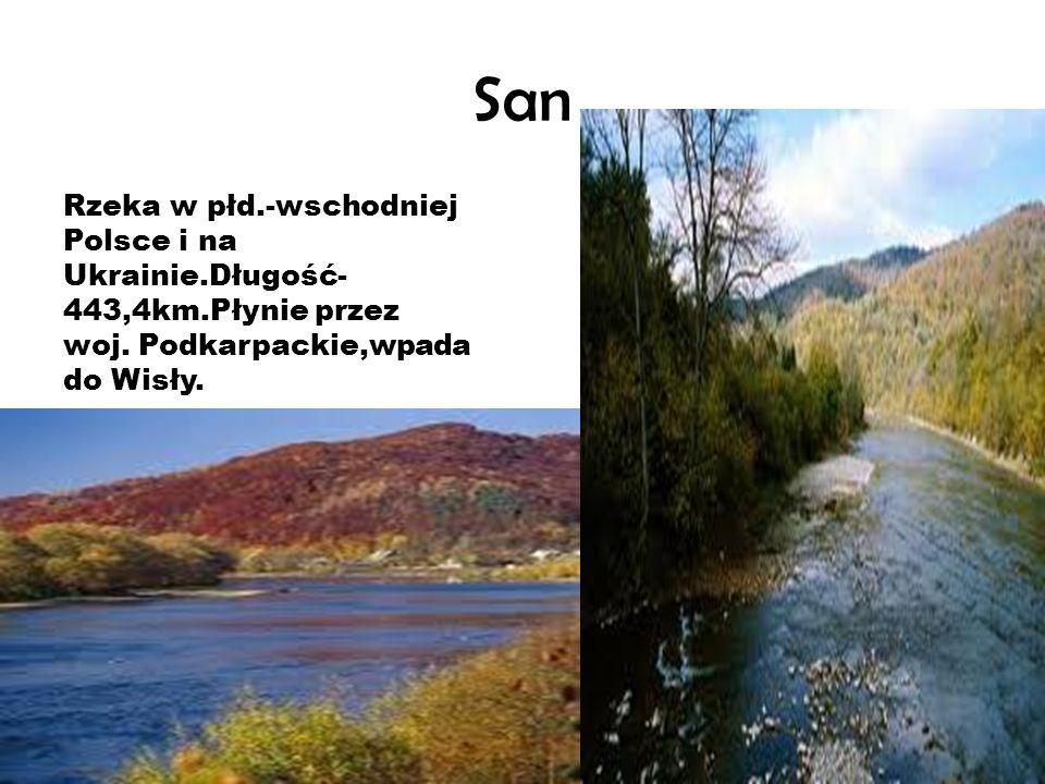 San Rzeka w płd.-wschodniej Polsce i na Ukrainie.Długość-443,4km.Płynie przez woj.