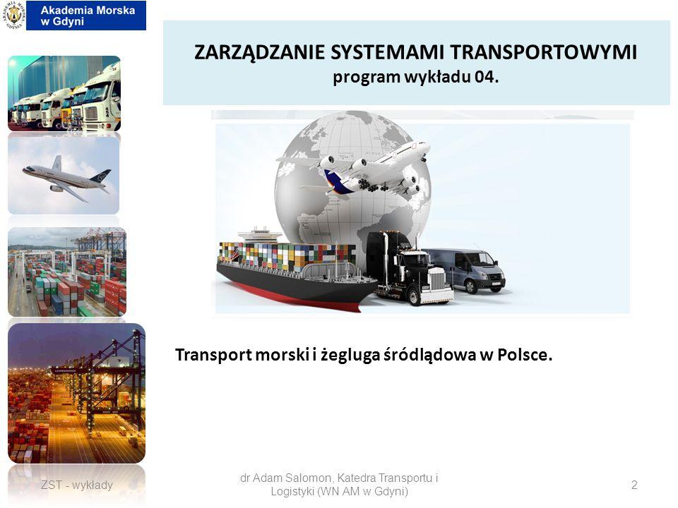 ZARZĄDZANIE SYSTEMAMI TRANSPORTOWYMI program wykładu 04.