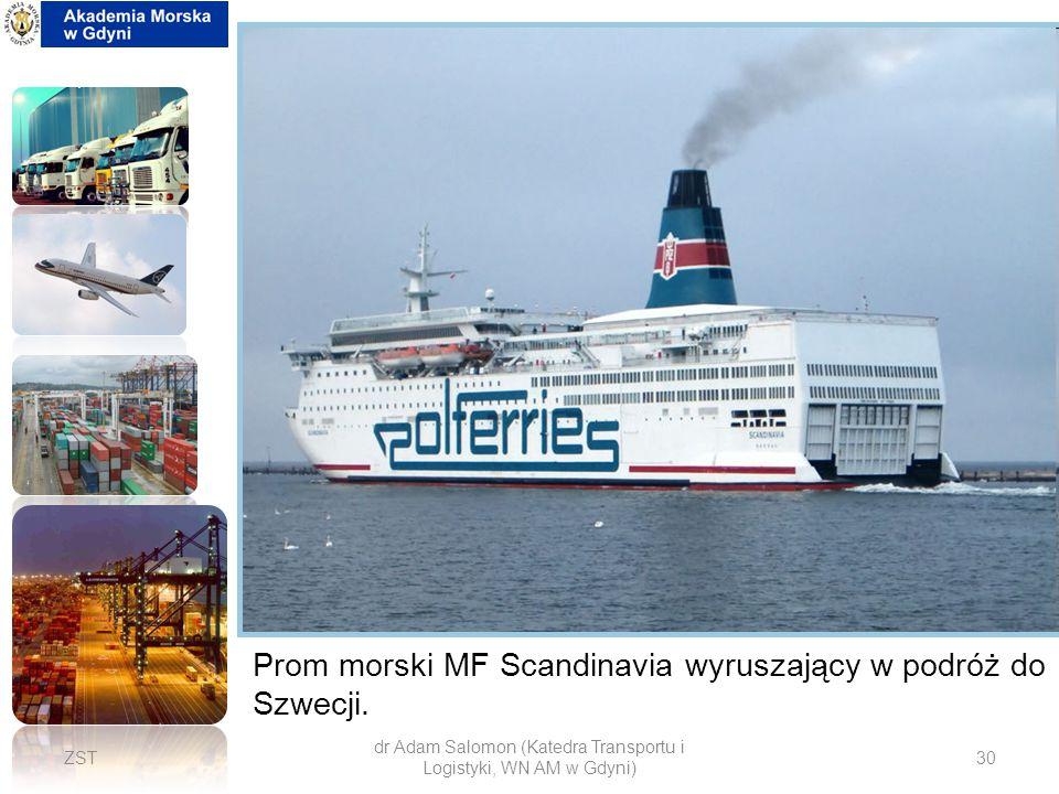 dr Adam Salomon (Katedra Transportu i Logistyki, WN AM w Gdyni)