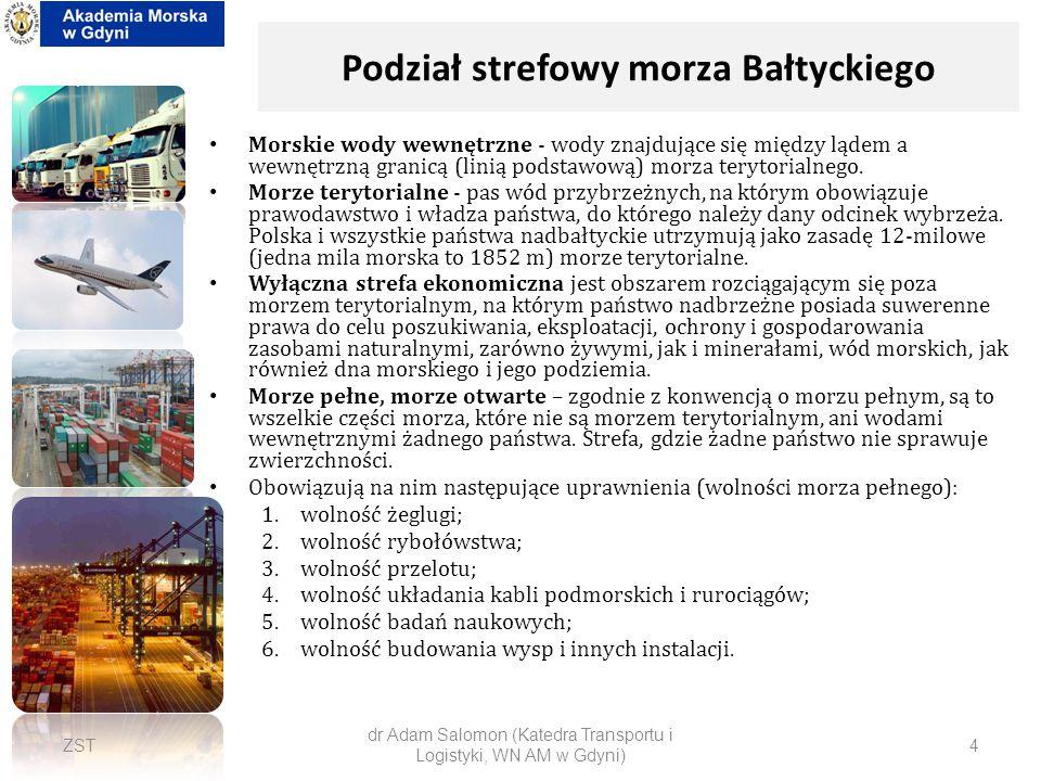Podział strefowy morza Bałtyckiego