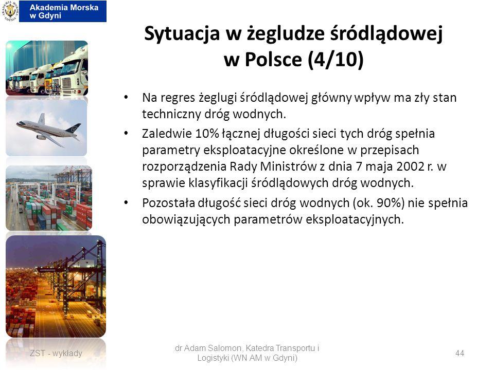 Sytuacja w żegludze śródlądowej w Polsce (4/10)