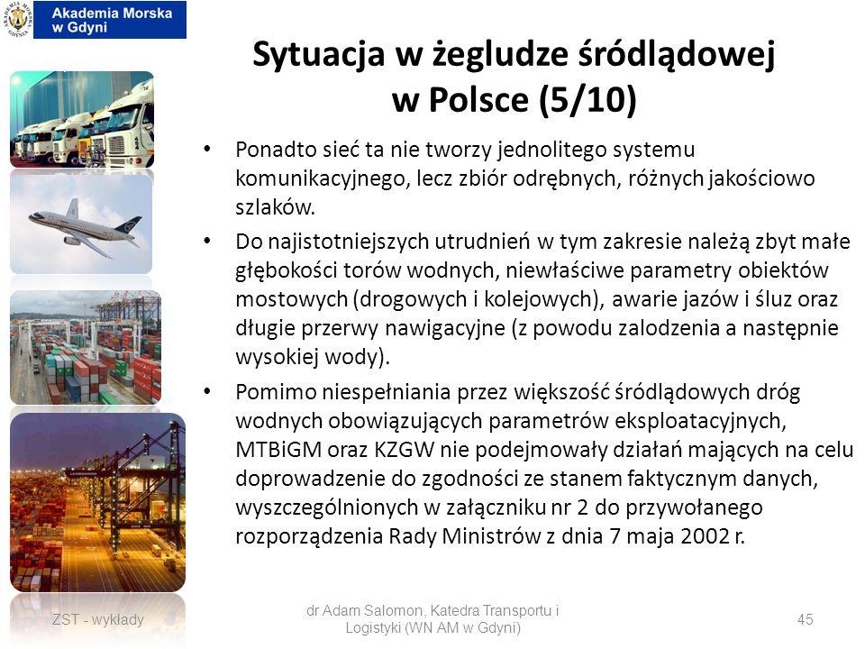 Sytuacja w żegludze śródlądowej w Polsce (5/10)