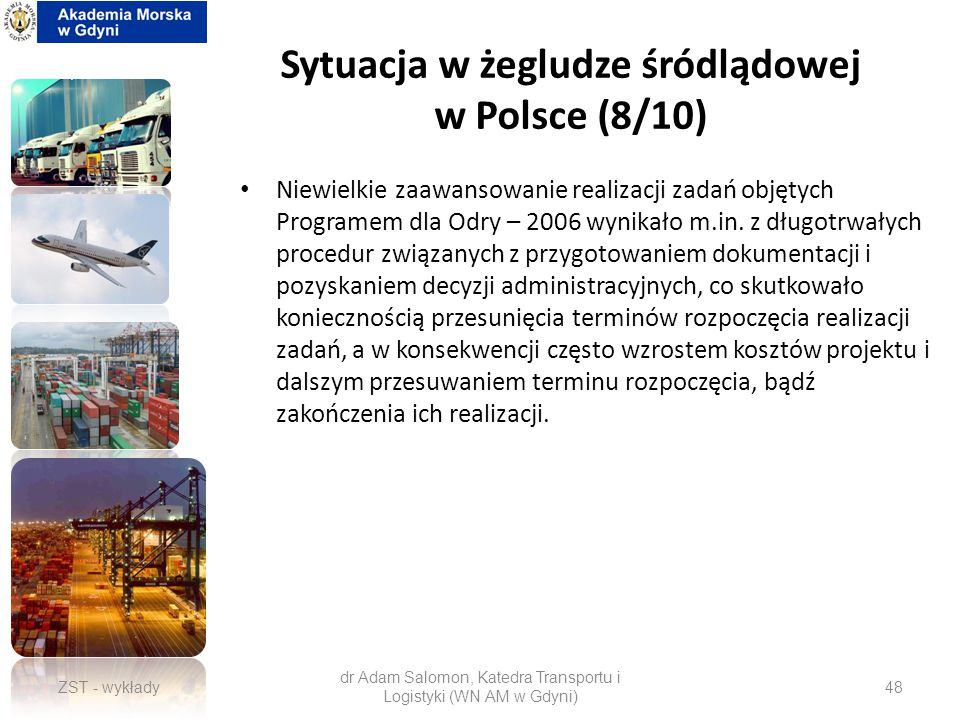 Sytuacja w żegludze śródlądowej w Polsce (8/10)