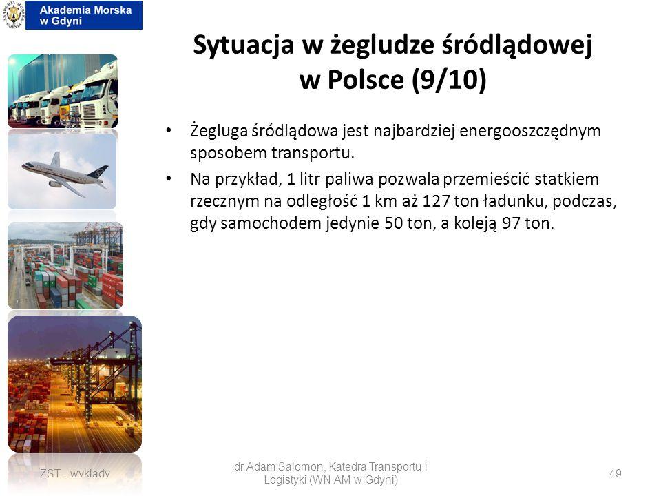 Sytuacja w żegludze śródlądowej w Polsce (9/10)