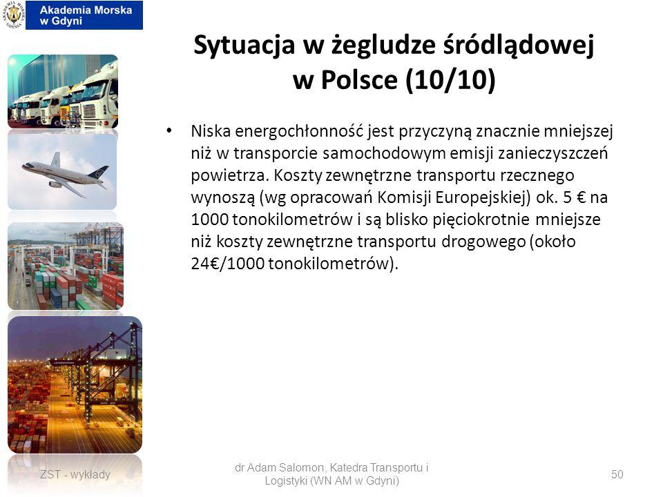 Sytuacja w żegludze śródlądowej w Polsce (10/10)