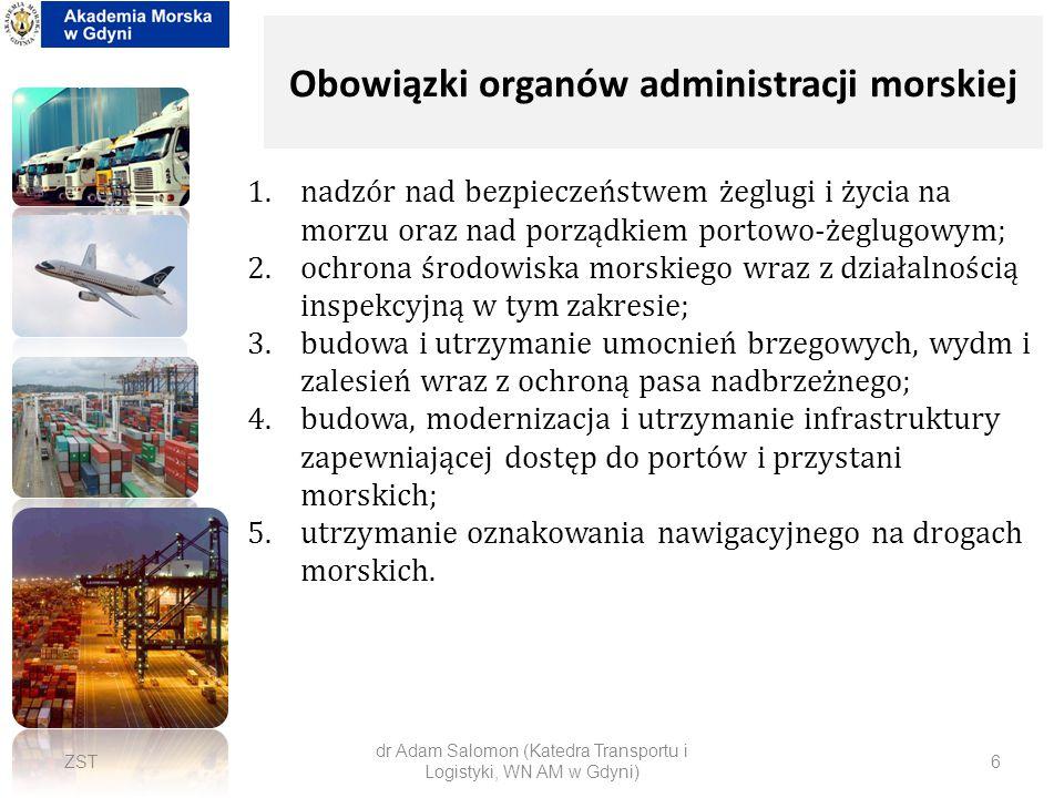Obowiązki organów administracji morskiej
