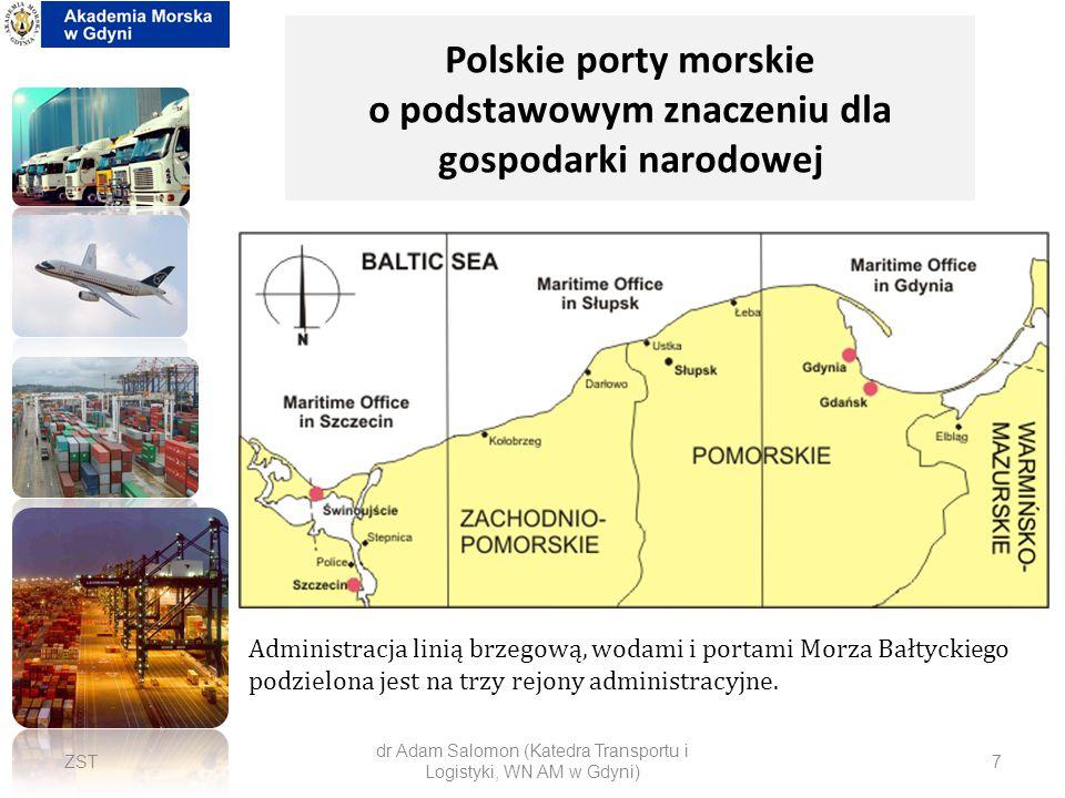 Polskie porty morskie o podstawowym znaczeniu dla gospodarki narodowej