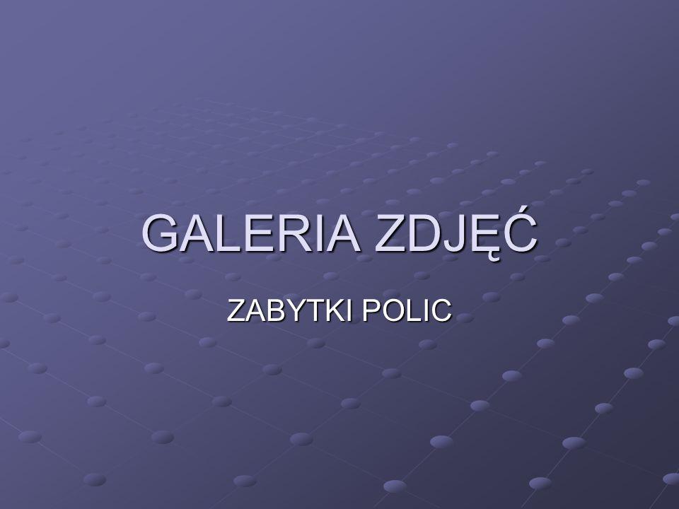 GALERIA ZDJĘĆ ZABYTKI POLIC