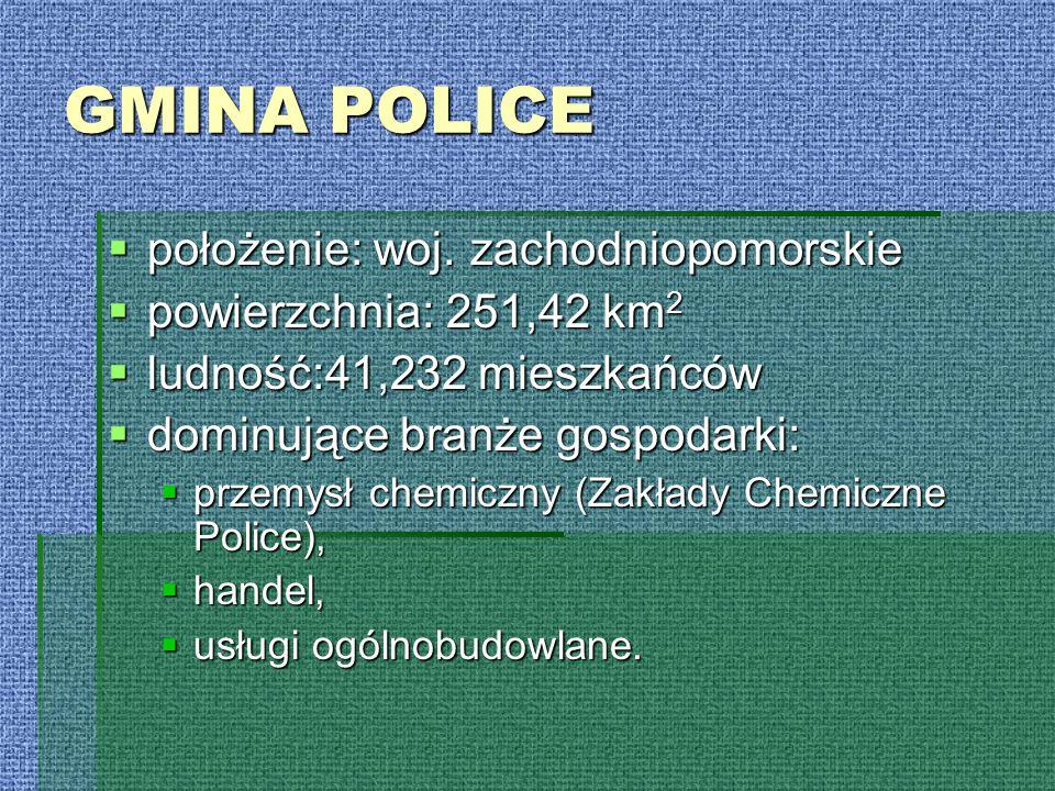 GMINA POLICE położenie: woj. zachodniopomorskie