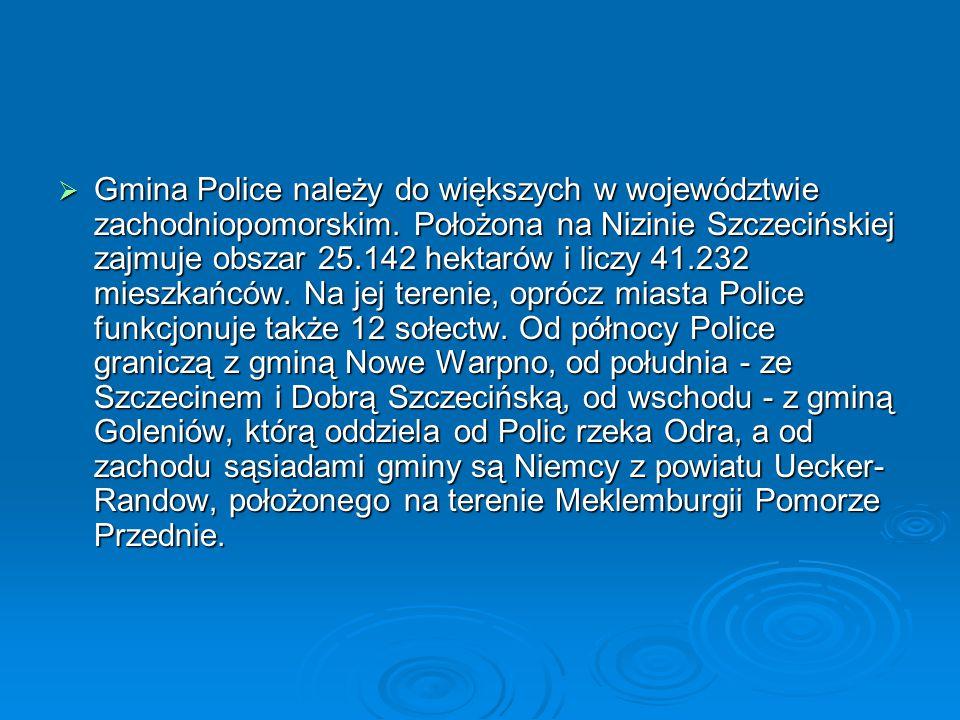 Gmina Police należy do większych w województwie zachodniopomorskim