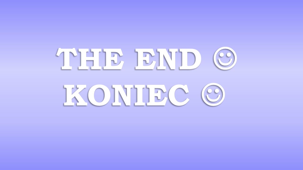 The end  KONIEC 