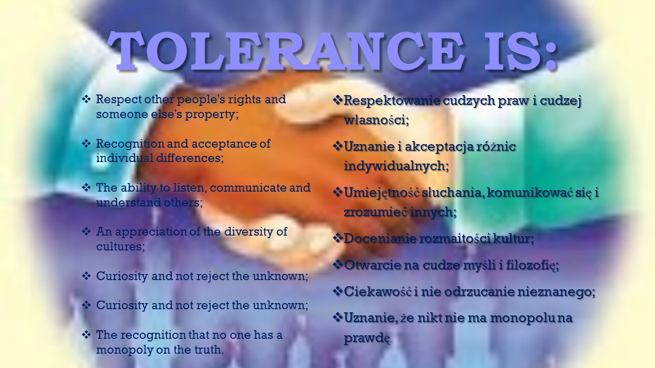 TOLerance IS: Respektowanie cudzych praw i cudzej własności;