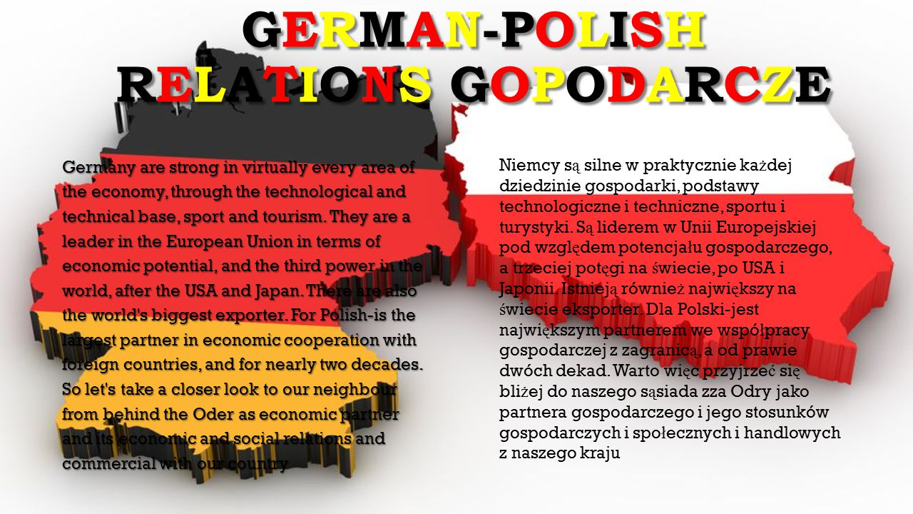 GERMAN-POLISH RELATIONS GOPODARCZE