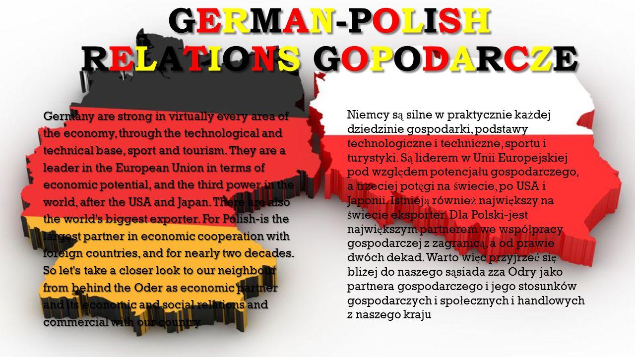 GERMAN-POLISH RELATIONS GOPODARCZE