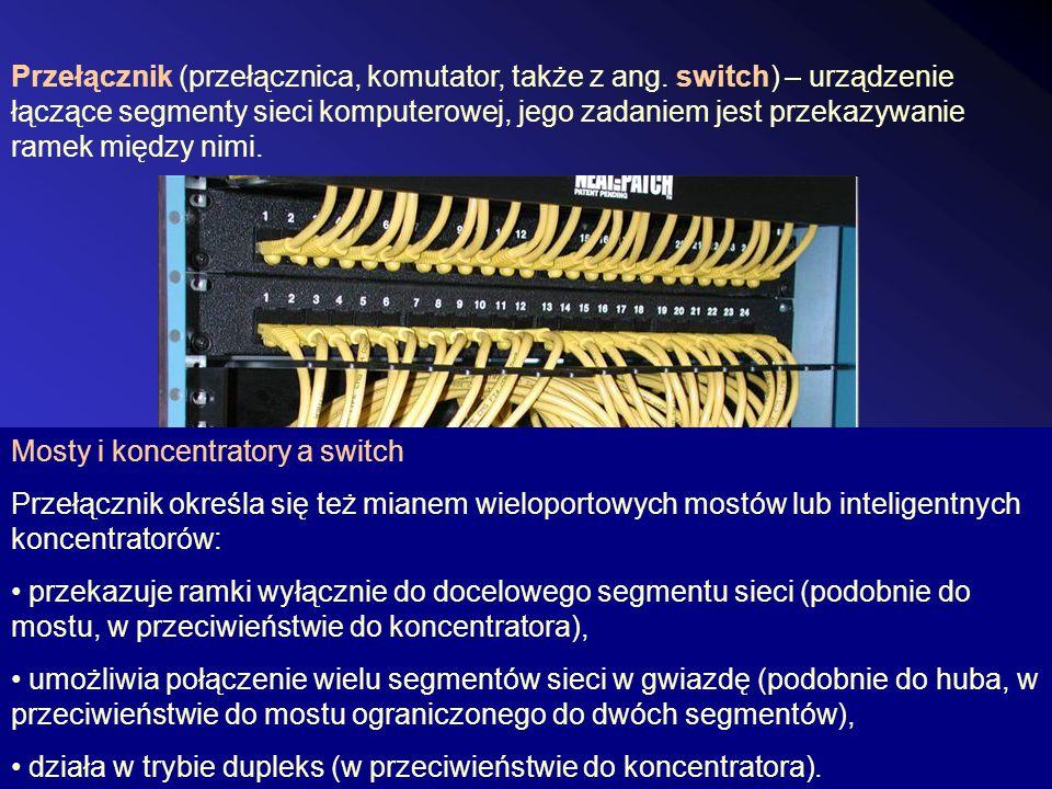 Przełącznik (przełącznica, komutator, także z ang