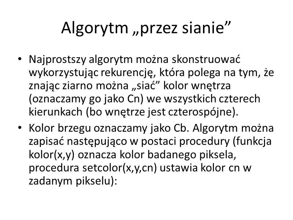 """Algorytm """"przez sianie"""