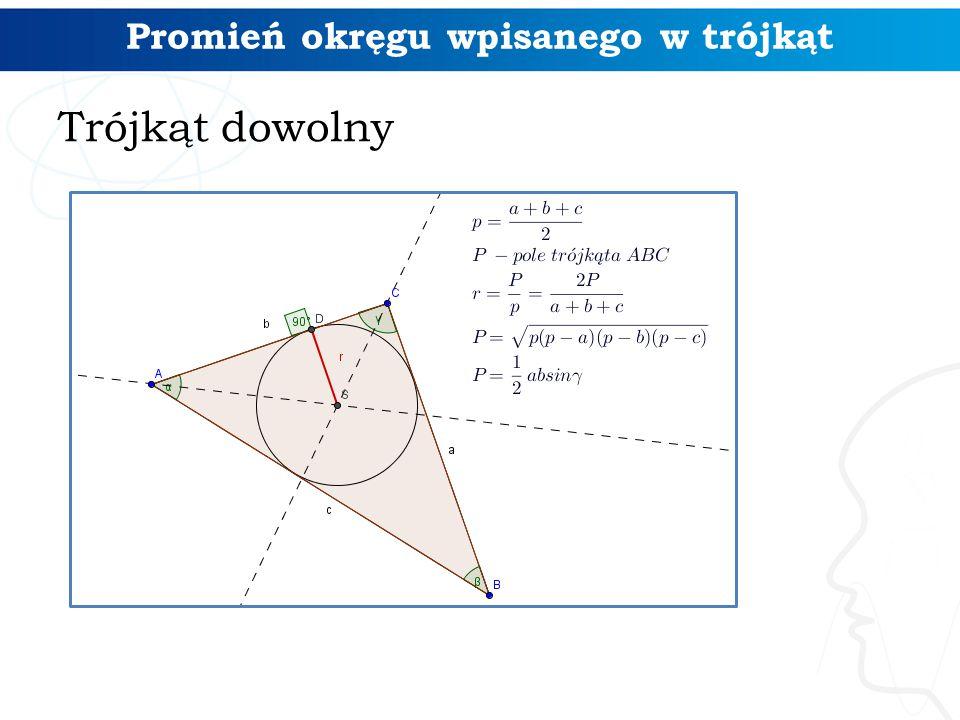 Promień okręgu wpisanego w trójkąt