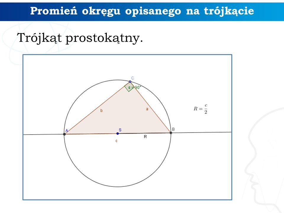 Promień okręgu opisanego na trójkącie