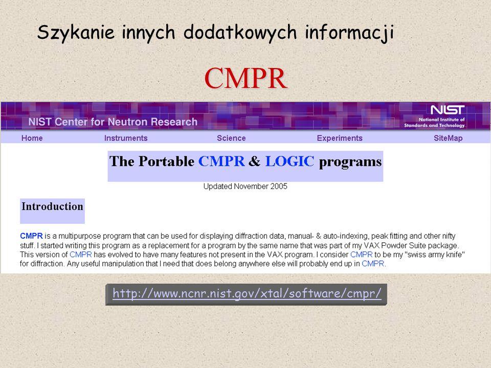 CMPR Szykanie innych dodatkowych informacji
