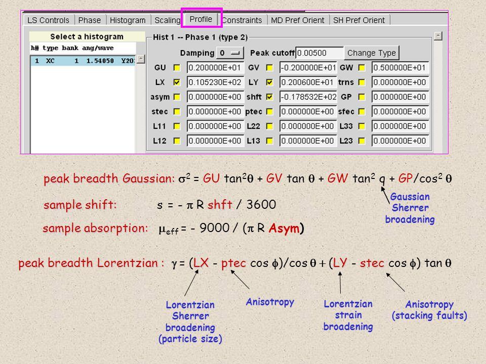 sample shift: s = - p R shft / 3600