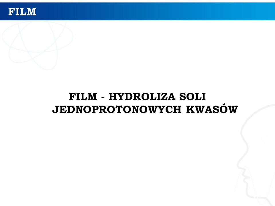 FILM - HYDROLIZA SOLI JEDNOPROTONOWYCH KWASÓW