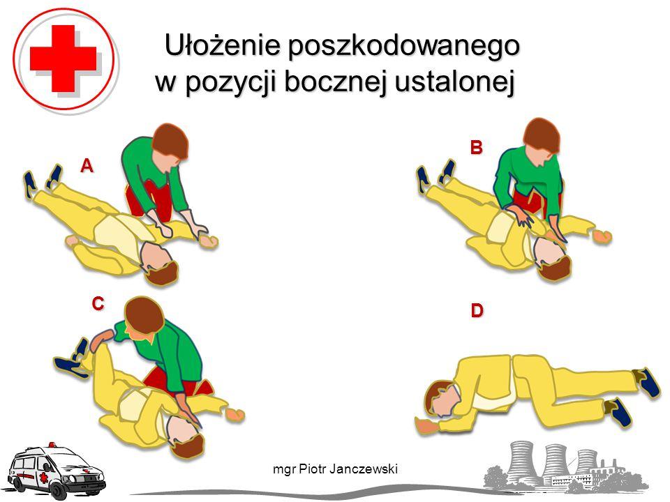 Ułożenie poszkodowanego w pozycji bocznej ustalonej
