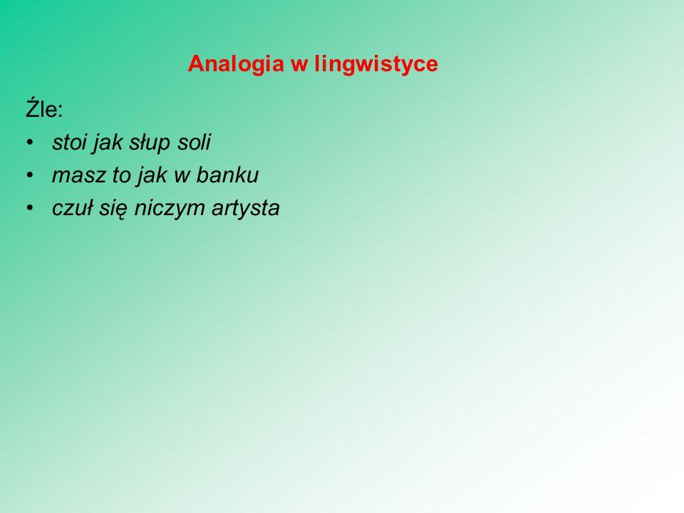 Analogia w lingwistyce