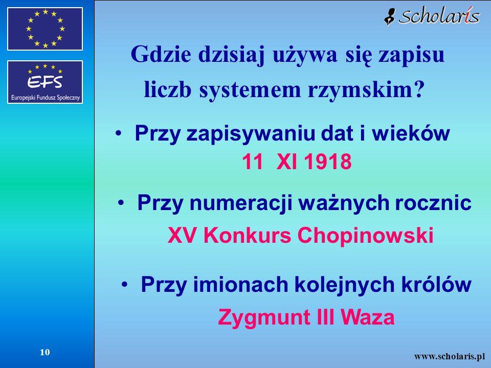Gdzie dzisiaj używa się zapisu liczb systemem rzymskim