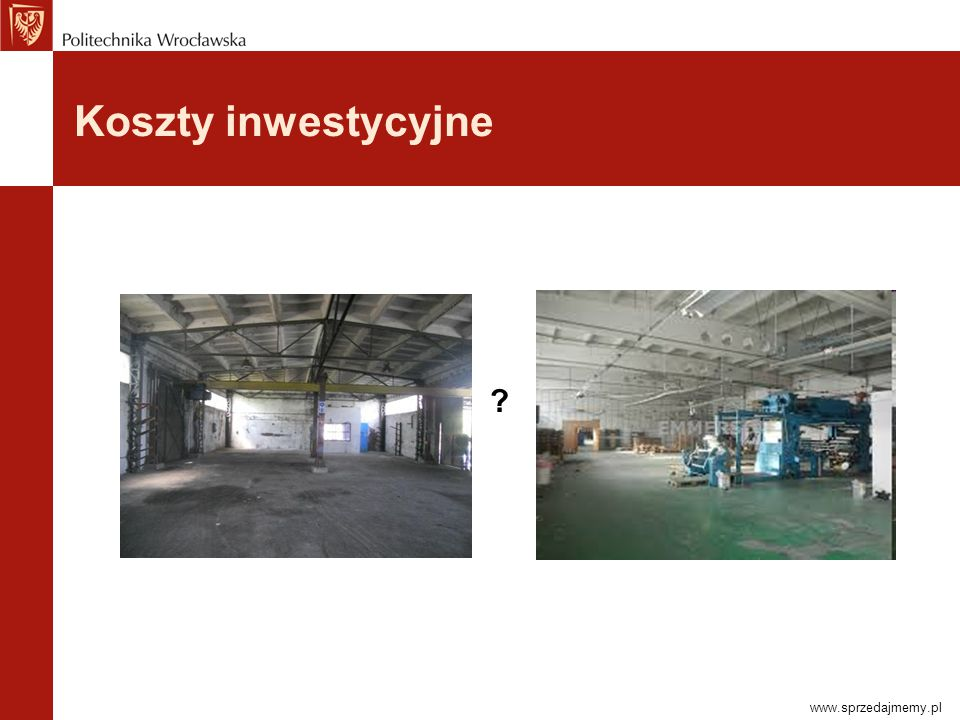 Koszty inwestycyjne www.sprzedajmemy.pl