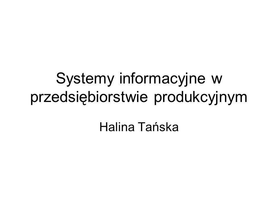 Systemy informacyjne w przedsiębiorstwie produkcyjnym