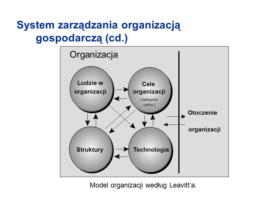 Model organizacji według Leavitt'a.