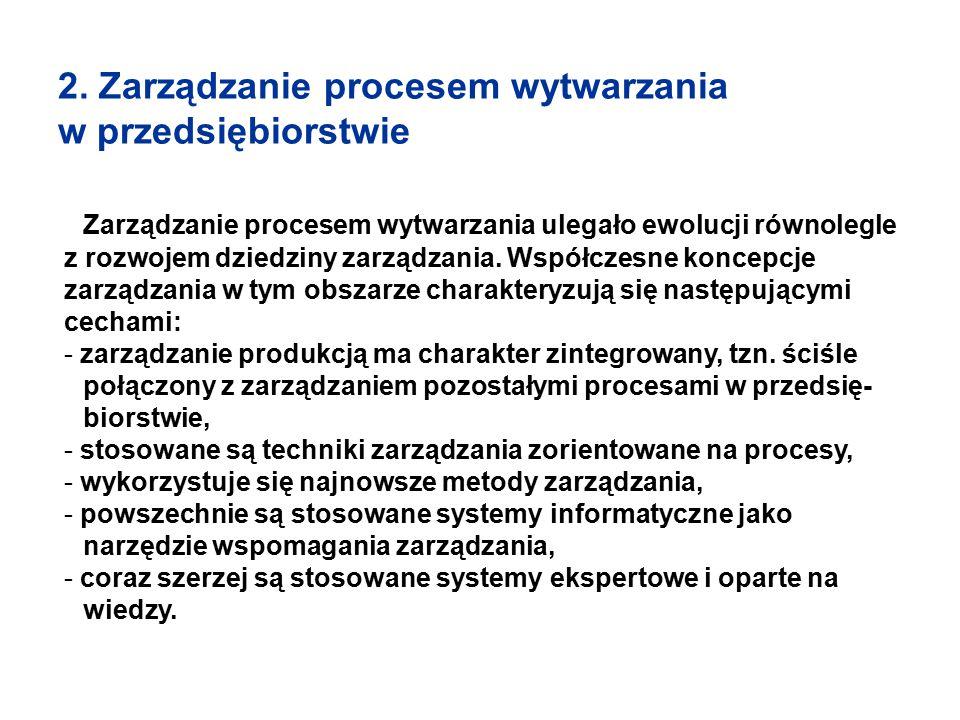 2. Zarządzanie procesem wytwarzania w przedsiębiorstwie