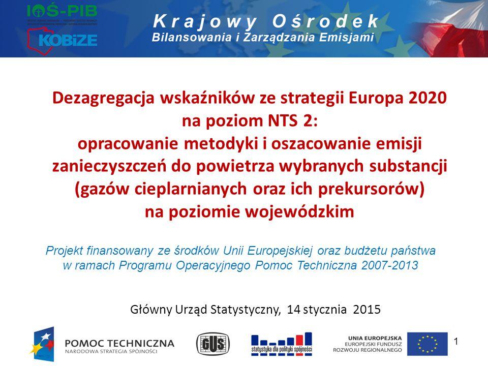 Dezagregacja wskaźników ze strategii Europa 2020 na poziom NTS 2: