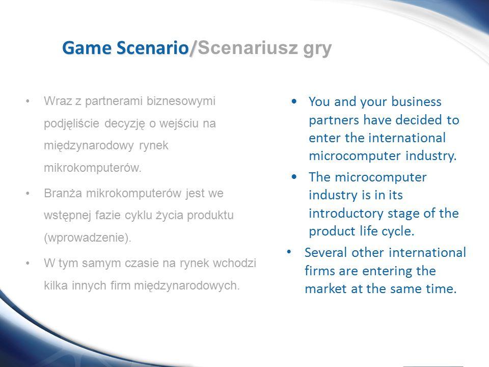 Game Scenario/Scenariusz gry