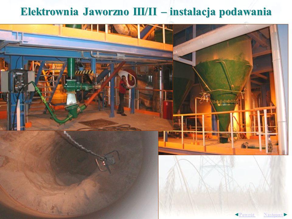 Elektrownia Jaworzno III/II – instalacja podawania